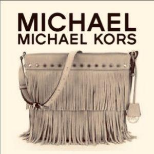 Michael Kors Billy Dark Dune Fringe bag